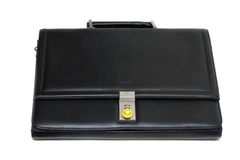 Black stylish leather briefcase Stock Photography
