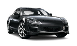 Black stylish sport car Stock Photo