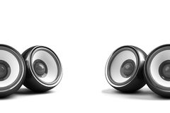 Black stylish stereo system Royalty Free Stock Photos