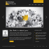 Black stylish website template Stock Image