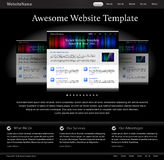 Black stylish website template Stock Images