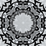 Black stylized frame over symmetry gray wallpaper Stock Photo