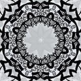 Black stylized frame over symmetry gray wallpaper Stock Photo