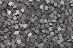 Black styrofoam pellets background Royalty Free Stock Photo