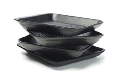 Black Styrofoam Trays Royalty Free Stock Image