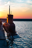Black Submarine Stock Photo