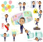 Black_success & positivo dell'uomo d'affari dei capelli di Berry Short royalty illustrazione gratis