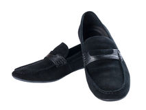 Black suede shoes Royalty Free Stock Images