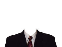 Black suit. (no head), isolated on white background Royalty Free Stock Photo