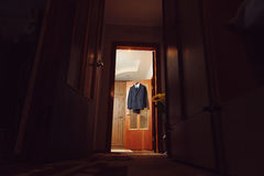 Black Suit on Door Royalty Free Stock Photography