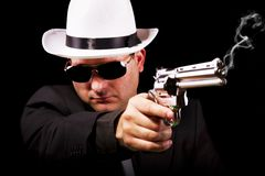 Black suit gangster Stock Photos