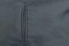 Black suit pocket. Stock Photo