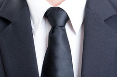 Black suit and tie Stock Photos