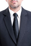Black suit and tie with white shirt Stock Photos