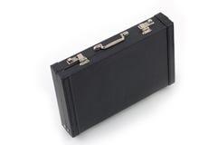 Black suitcase. Black suit case against white background stock image