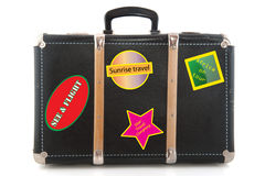 Black suitcase. For luggage to travel around the world Royalty Free Stock Photo