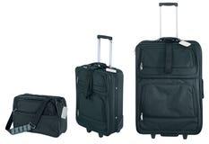 Black suitcase luggage. On a white background Stock Photo