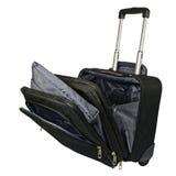 Black suitcase on wheels Stock Image