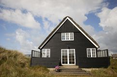 Black summer house royalty free stock photos