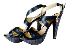 Black summer shoes Royalty Free Stock Photography