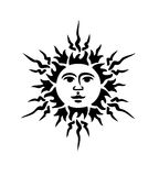 Black sun Stock Image