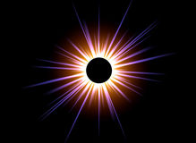 Black Sun. This image shows a computer generated solar eclipse vector illustration