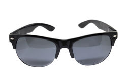 Black sun glasses isolated. Over the white background stock photography