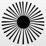 Black Sun Ray on Gray and White Gradient Royalty Free Stock Image