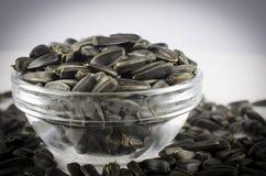 Black sunflower seeds Royalty Free Stock Photo