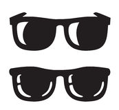 Black Sunglasse icons. Vector black Sunglasse icons on white background Stock Photos
