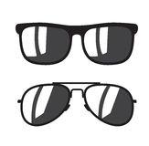 Black Sunglasse icons. Vector black Sunglasse icons on white background Stock Photography