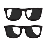 Black Sunglasse icons. Vector black Sunglasse icons on white background Stock Images