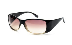 Black sunglasses. Fancy black and pink sunglasses isolated on white Royalty Free Stock Images