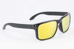 Black sunglasses. On white background Royalty Free Stock Photo