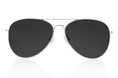 Black sunglasses stock photos