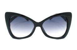 Black Sunglasses. Big Designer black sunglasses isolated on white Royalty Free Stock Photography