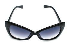 Black Sunglasses. Big Designer black sunglasses isolated on white Royalty Free Stock Image