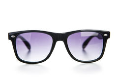 Black sunglasses close up. Isolated on a white. Stock Image