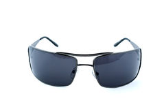 Black sunglasses frontal view Royalty Free Stock Photos