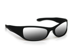Black sunglasses isolated. On the white background Royalty Free Stock Photos