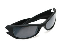 Black sunglasses isolated  on the background. Black sunglasses isolated on the background Stock Photos