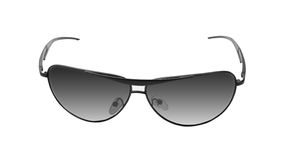 Black sunglasses, isolated on white Royalty Free Stock Photo