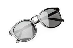 Black sunglasses isolated on white Stock Photos