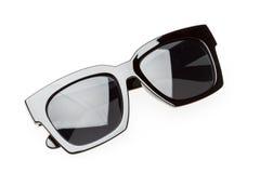 Black sunglasses isolated on white Royalty Free Stock Photos