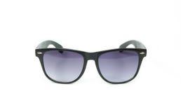 Black sunglasses isolated on white Background. Vintage retro black sunglasses isolated on white Royalty Free Stock Photography