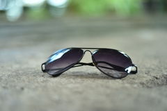 Black sunglasses. For men and young boys Stock Photos