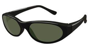 Black sunglasses side Stock Image