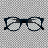 Black sunglasses on a transparent background. Vector illustration Royalty Free Stock Photo