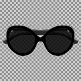 Black sunglasses on a transparent background. Vector illustration Stock Photos