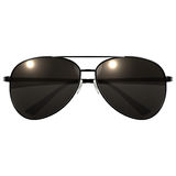 Black Sunglasses on a white background Royalty Free Stock Image